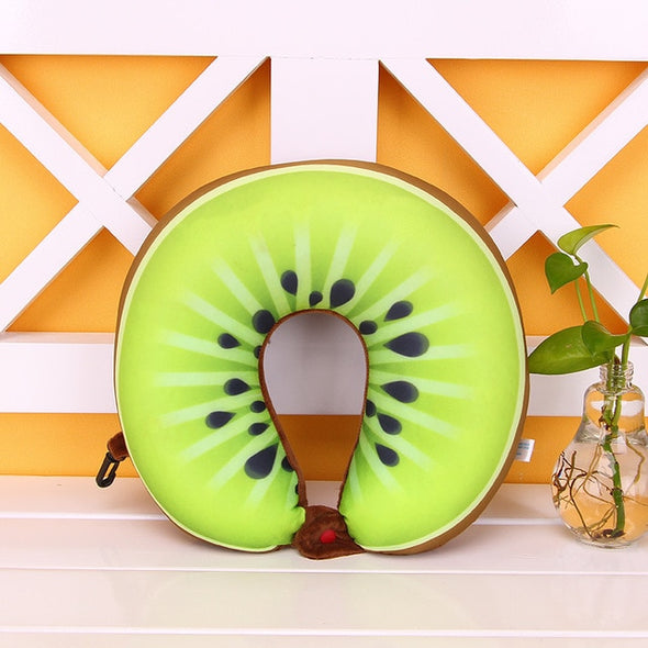 Travel Size Fruity Neck Pillow-CloudyComfort-Kiwi-CloudyComfort