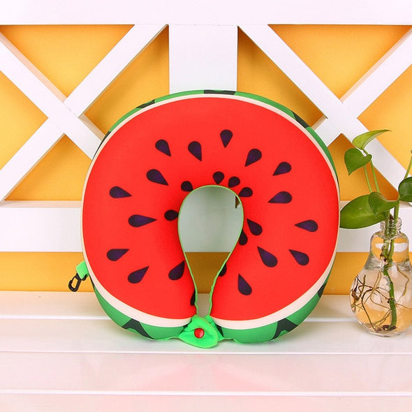Travel Size Fruity Neck Pillow-CloudyComfort-Watermelon-CloudyComfort