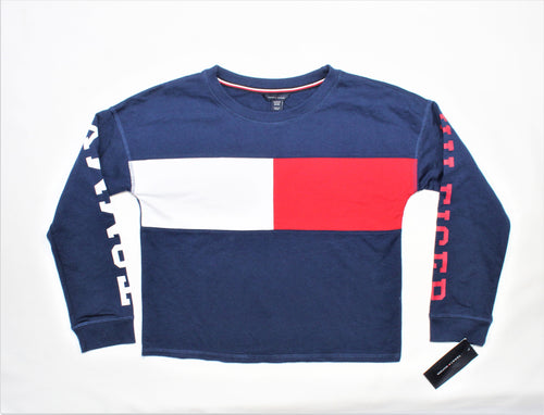 Tommy Hilfiger Navy Blue Long Sleeve Top - Size: M(8/10)