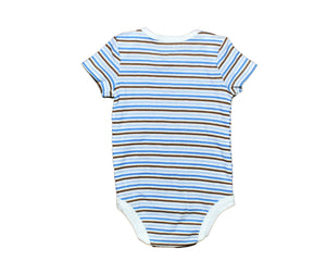 Faded Glory Multi-Color Striped Bodysuit - Size: 0-3M