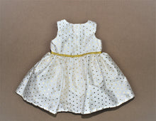 Load image into Gallery viewer, Carter's Ivory Gold Polka-Dots Sleeveless Dress - Size: 6M