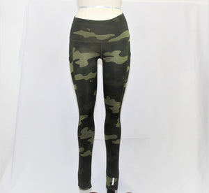 Reebok Green Camo Print Active Leggings - Size: XS