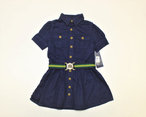 Polo Ralph Lauren Navy Blue Dress - Size: 2T