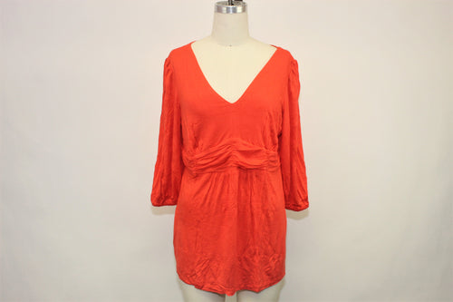 NY Collection Orange Stretch Top - Size: 1X
