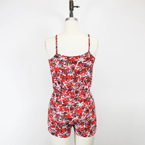 Banana Republic Red Multicolored Romper - Size: XS