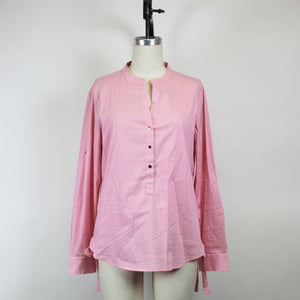 Ivanka Trump Pink Button Up Top - Size: L