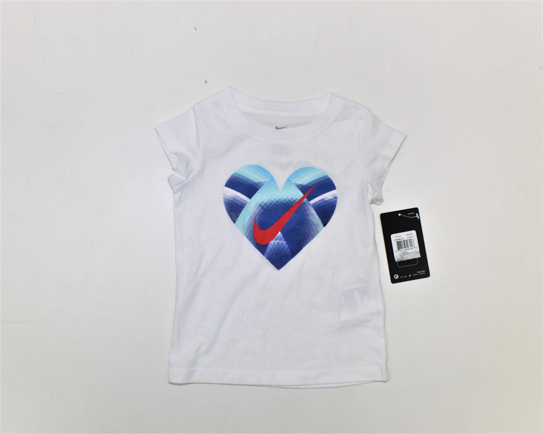 Nike White Printed Top - Size: 3T