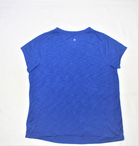 Xersion Blue Print V-Neck Active Top - Size: 2X