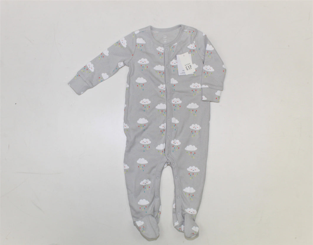 Baby Gap Gray Printed Jumpsuit - Size: 6-9M