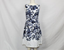 Load image into Gallery viewer, Talbots White Floral Print A-Line Dress - Size: 6