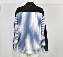 Load image into Gallery viewer, Current/Elliott Black Back Striped Blazer - Size: 0