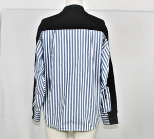 Current/Elliott Black Back Striped Blazer - Size: 0