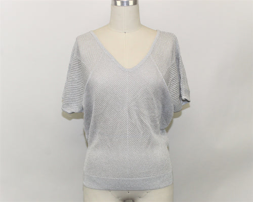 Express Gray Pullover Sweater - Size: S