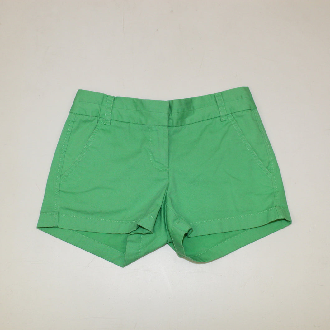 J. Crew Green Chino Shorts - Size: 00