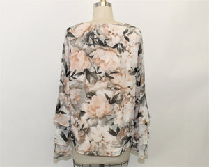 Calvin Klein Floral Printed Blouse - Size: S