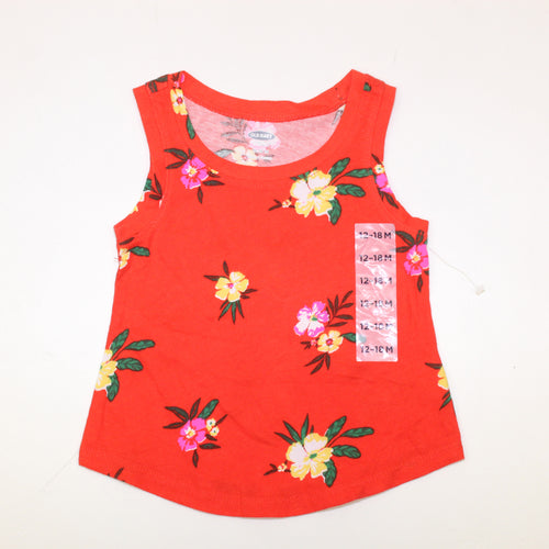 Old Navy Floral Baby Girl Top - Size: 12-18M