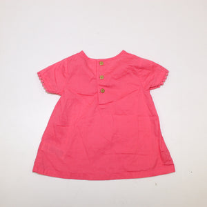 Carter's Baby Girls Pink Top - Size: 3M