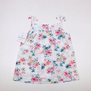 Carter's Floral Printed Top - Size: 18M