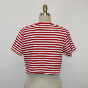 PRIMARK Striped Cropped T-shirt - Size: 8