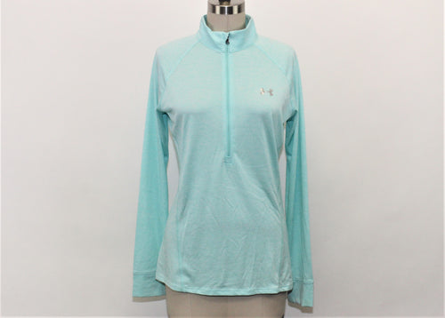Under Armour Blue Half Zip Active Top - Size: M