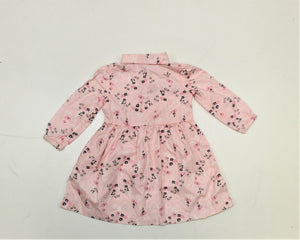 Carter's Pink Floral Long Sleeve Dress - Size: 12M