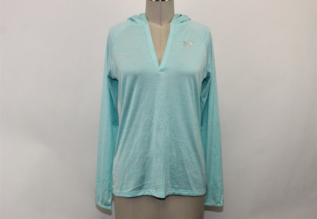 Under Armour Blue Long Sleeve Active Top - Size: M