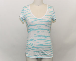American Eagle Outfitters White V-Neck Top - Size: S