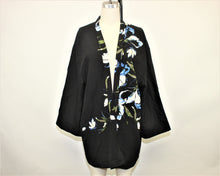 Load image into Gallery viewer, Vince Camuto Black Floral Printed Kimono - Size: L