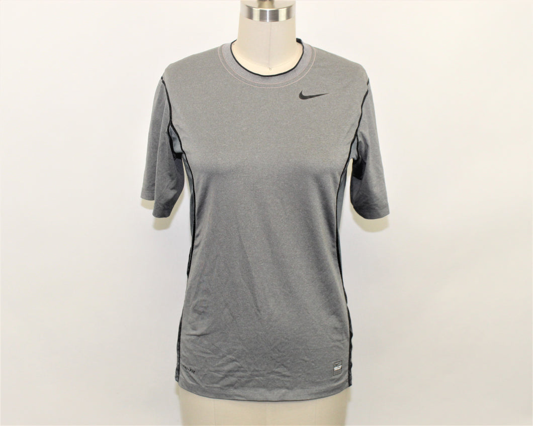 Nike Gray Active Top - Size: L