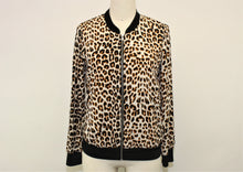 Load image into Gallery viewer, Express Ivory Cheetah Print Full Zip Jacket - Size: S