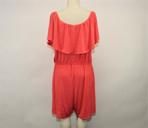 Old Navy Coral Open Shoulder Romper - Size: XXL