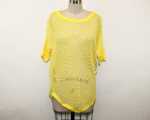 a.n.a. A New Approach Yellow Sweater - Size: M