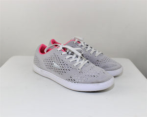 Catapult Gray Rosa Lace-Up Sneakers - Size: 7.5