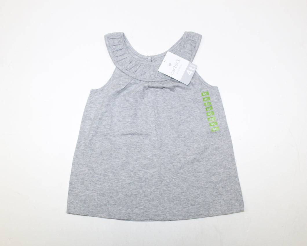 Carter's Gray Top - Size: 4T
