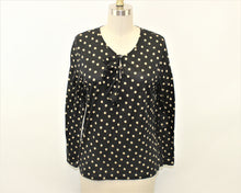 Load image into Gallery viewer, J. Crew Black Polka-Dots Blouse - Size: M