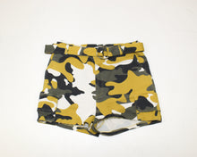 Load image into Gallery viewer, Fashion Nova Yellow Camo Shorts - Size: L
