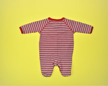 Load image into Gallery viewer, Ralph Lauren Red Striped Coverall - Size: Newborn