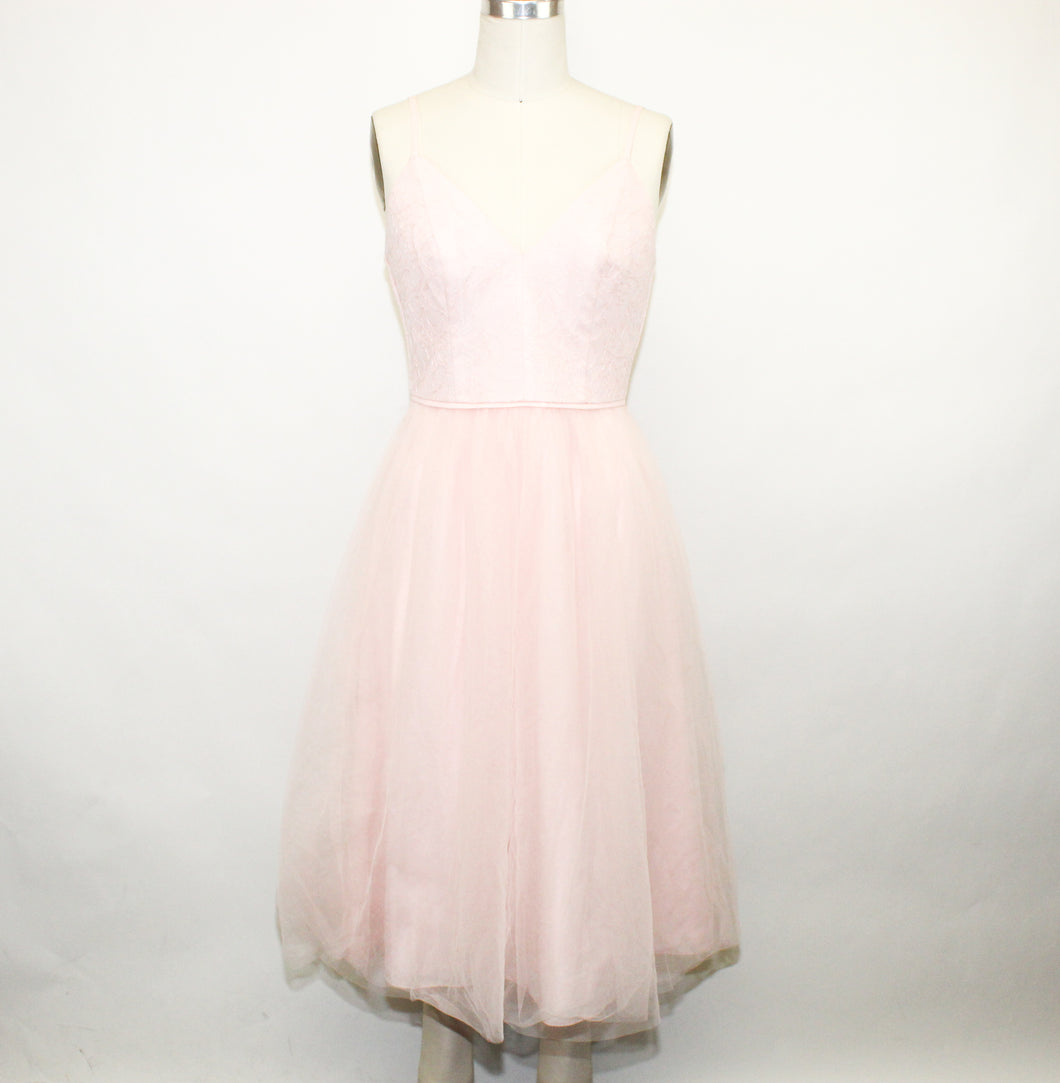 David's Bridal Pink Dress - Size: 6