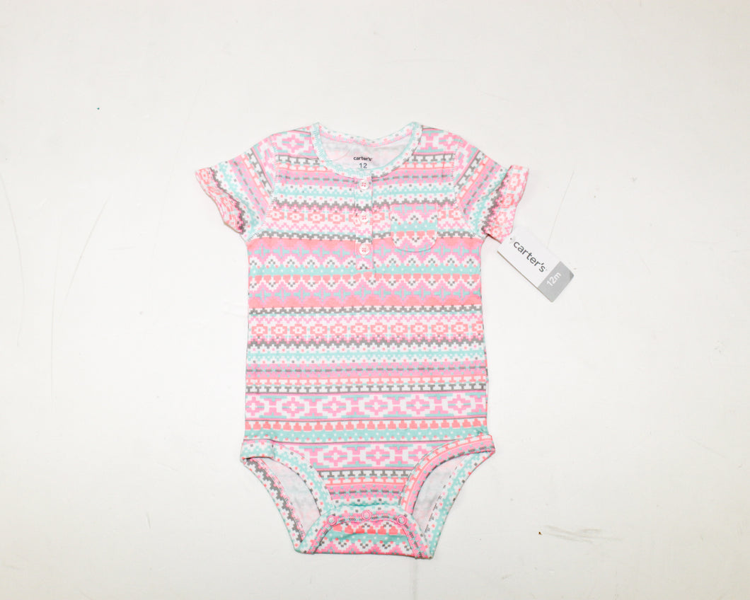 Carter's Multi-Color Bodysuit - Size: 12M