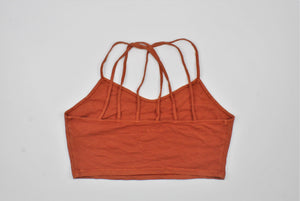 American Eagle Outfitters Orange Sleeveless Top - Size: L