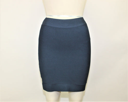 BCBGMAXAZRIA Navy Blue Mini Skirt - Size: M