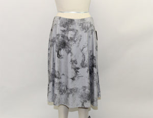 Ellen Tracy Gray Midi Skirt - Size: L
