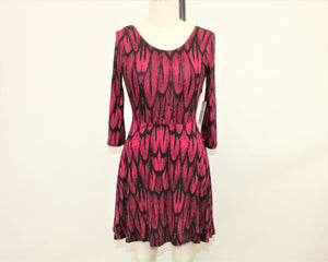 Express Black Printed Dress - Size: S