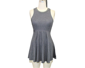 PINK Gray A-Line Dress- Size: XS