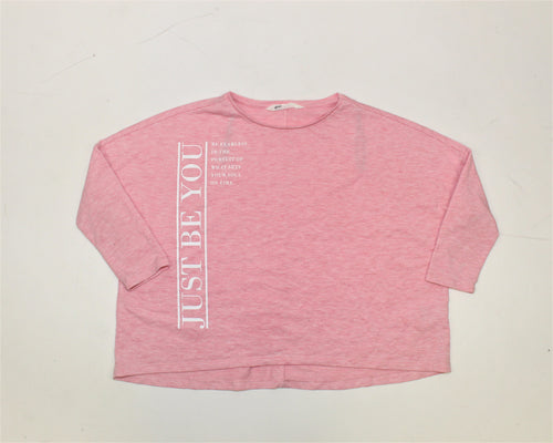 H&M Pink Oversize Top - Size: 10-12Y