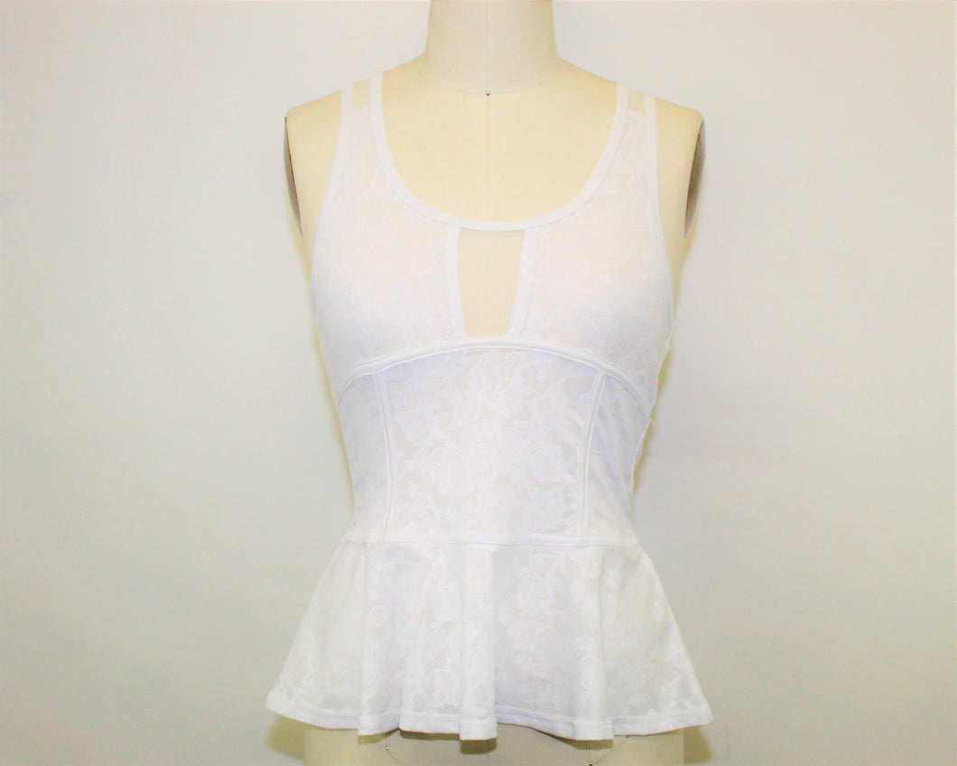 American Eagle Outfitters White Top - Size: S