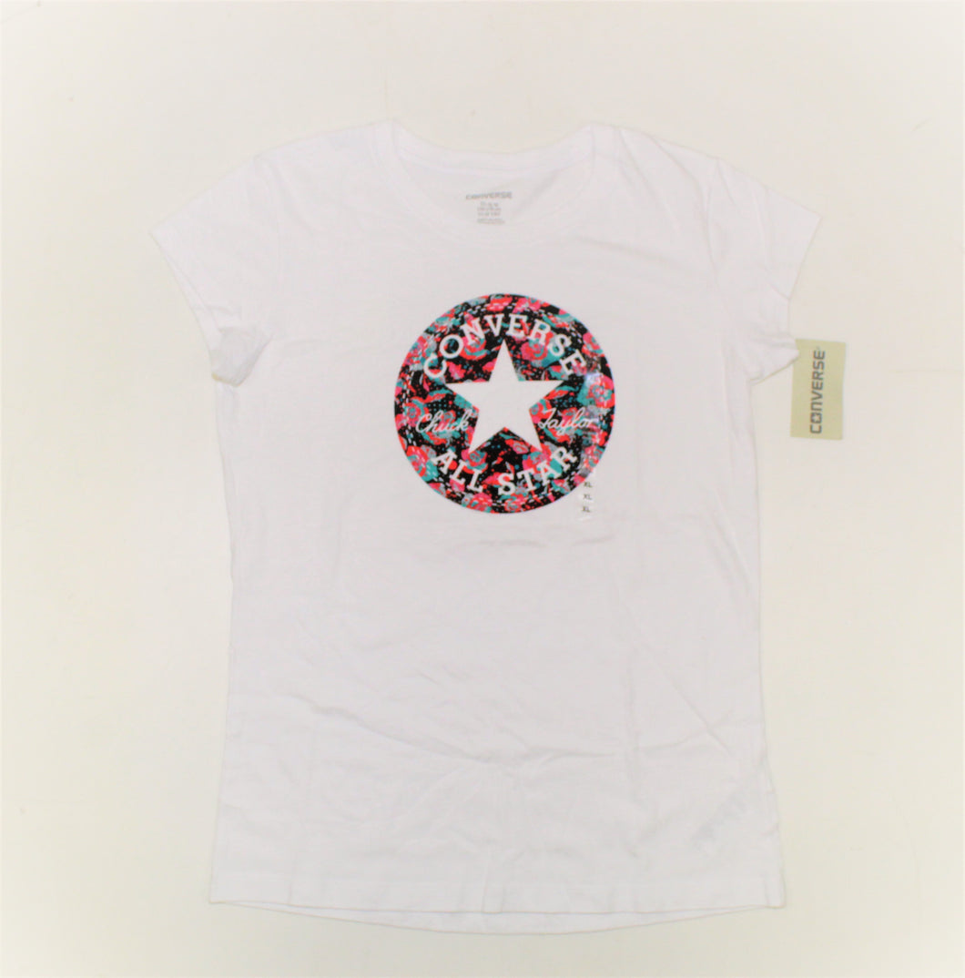 Converse All Star White Printed Top - Size: XL