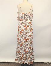 Load image into Gallery viewer, Hommage White Floral Maxi Dress - Size: L