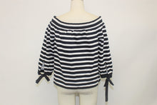Load image into Gallery viewer, J. Crew Navy Blue and White Striped Top - Size: M
