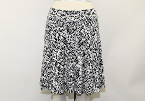 Ann Taylor LOFT Black and White Skirt - Size: S